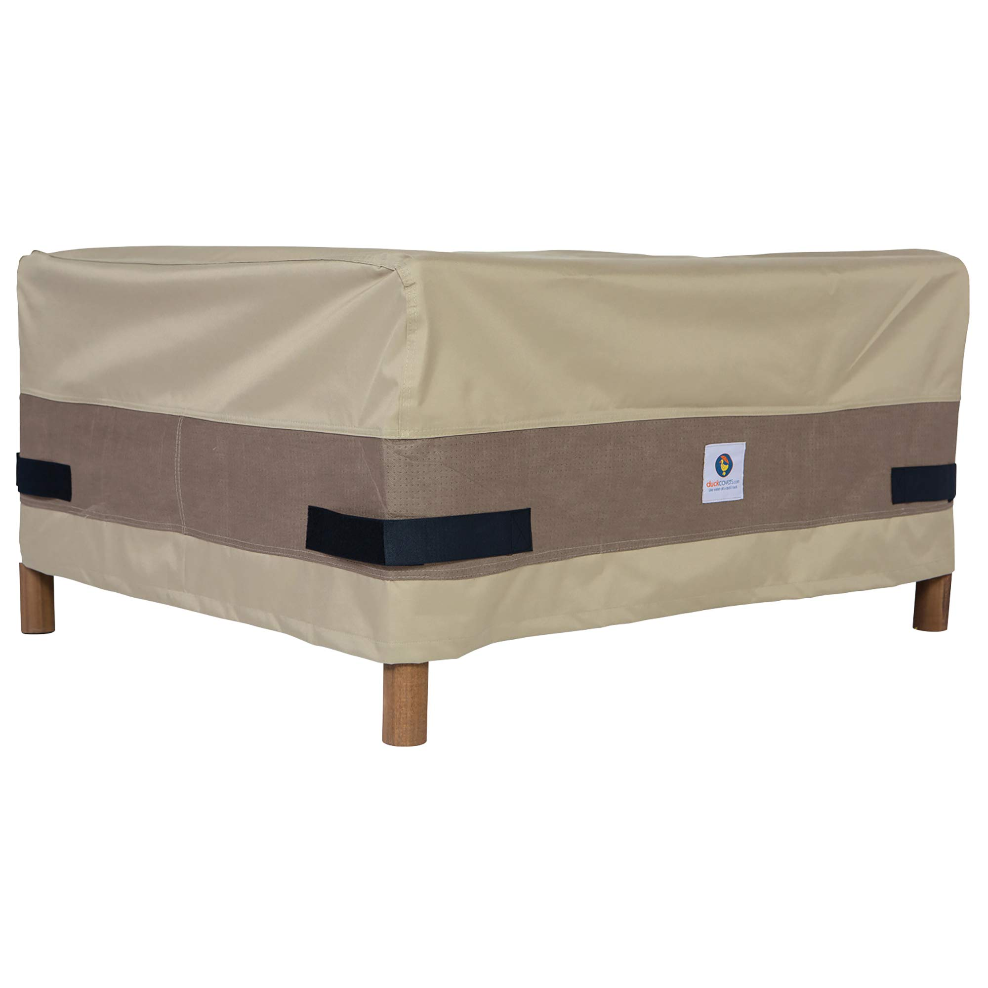 Amazon com duck covers elegant rectangular patio ottoman side table cover fits outdoor rectangular patio ottoman side tables 52 in