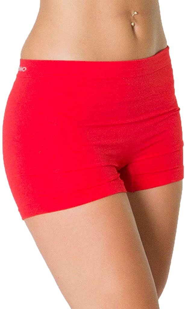 Love My Fashions/® Womens Underwear Plain High Waist Ladies Seamless Stretch Boxer Shorts S M L XL XXL Plus Size