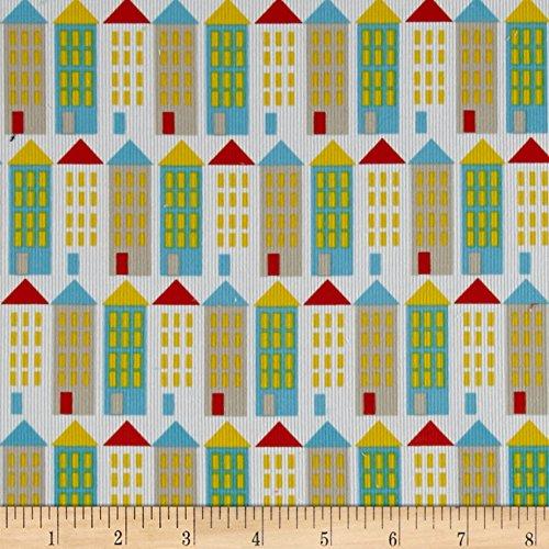 Cloud 9 Organic Corduroy Small World City Streets Fabric By The Yard Street Corduroy