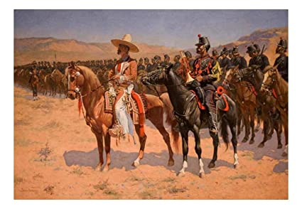 amazon com wall26 the mexican major the wild west or the troops