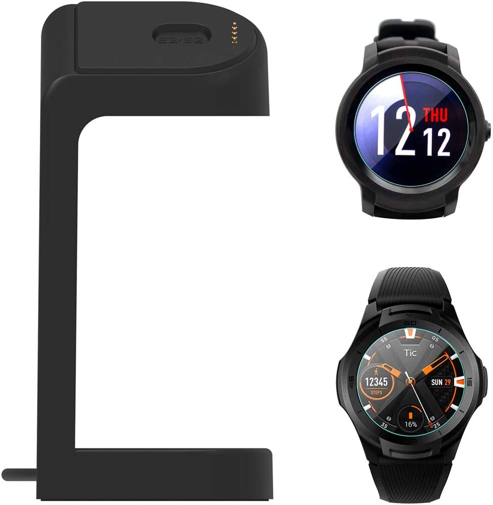 Ticwatch E2 Charger,Replacement Data Connection Charging Dock Compatible with Ticwatch E2 S2 Stand Case Friendly with 5 Feet Charger Cable Not for Other Watch