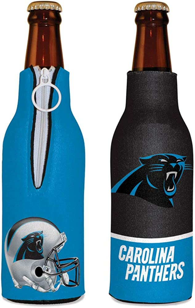 WinCraft NFL Carolina Panthers Bottle Cooler, Team Colors, One Size