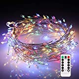 ECOWHO Fairy Lights Battery Operated, 200 LED String Lights Dimmable with Remote Control, Waterproof Decorative Lights for Bedroom Wedding Patio Garden Party (Multicolor)