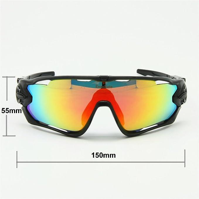 Lunettes de cyclisme photochrome polarisée 4/5 Lens Kit lunettes de soleil Goggles (bleu/blanc, 5 lens kit)