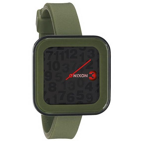 Nixon A1621048-00 - Reloj analógico y digital de cuarzo para mujer con correa de silicona, color verde: Amazon.es: Relojes