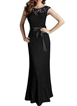 Amazon.com: ThaliaDress Long Lace Evening Party Dresses Prom Gowns ...