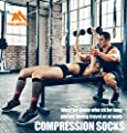 Copper Compression Socks For Men & Women(3 Pairs)- Best For Running,Athletic,Medical,Pregnancy and Travel -15-20mmHg