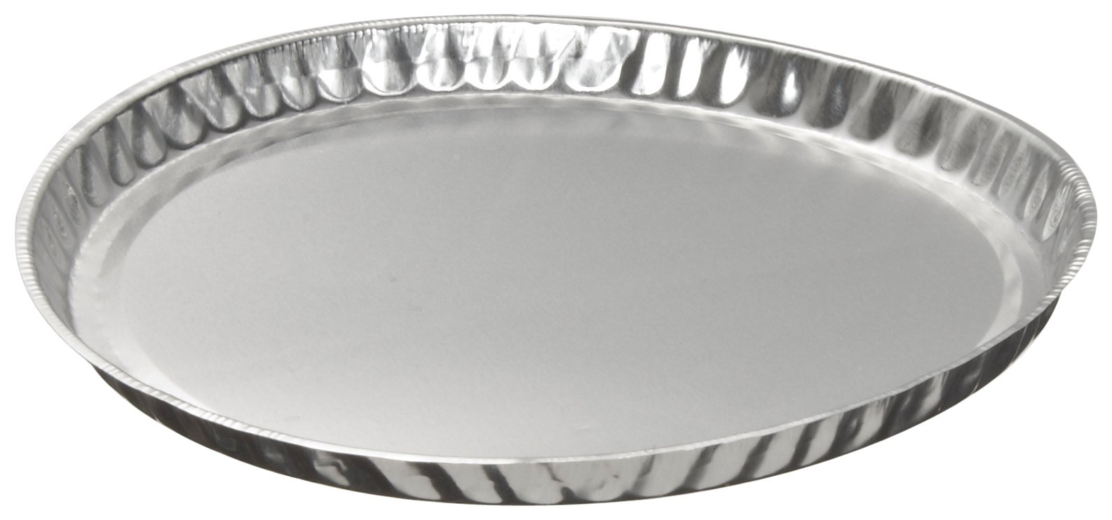Heathrow Scientific HD14522 Aluminum Weighing Dish, 4'' Outside Diameter x 5/16'' Height (Pack of 50) by Heathrow Scientific