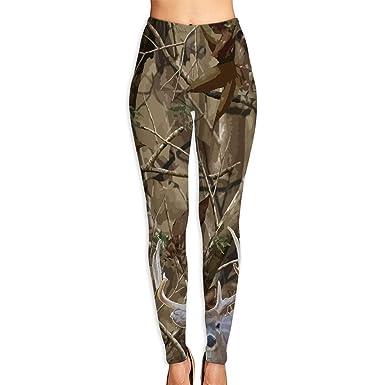da4695b32d7c77 Liu Chao Hunting Deer Camo Women's Yoga Pants Capri Sport Leggings at Amazon  Women's Clothing store: