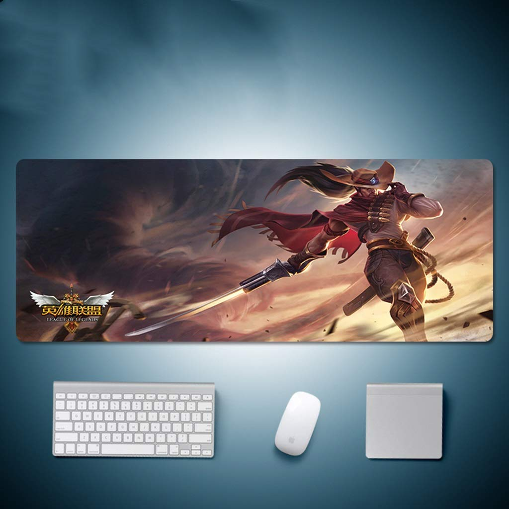 QYLOZ Large Waterproof Expansion Mouse Mat Profession Esports Gaming Keyboard Mouse Pad Locking Edge Design Bottom Non-Slip Rubber Base 80×30cm (Color : G, Size : 4mm) by QYLOZ