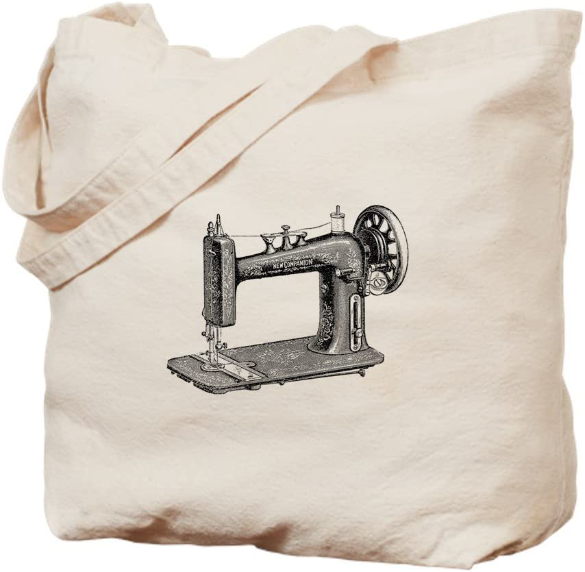 CafePress diseño de máquina de coser – Gamuza de bolsa de lona ...