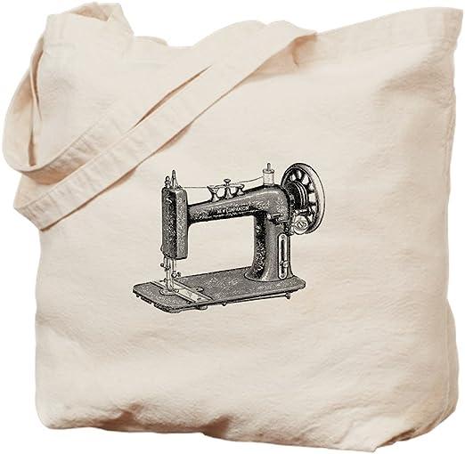 CafePress diseño de máquina de coser – Gamuza de bolsa de lona bolsa, bolsa de la compra Small caqui: Amazon.es: Hogar