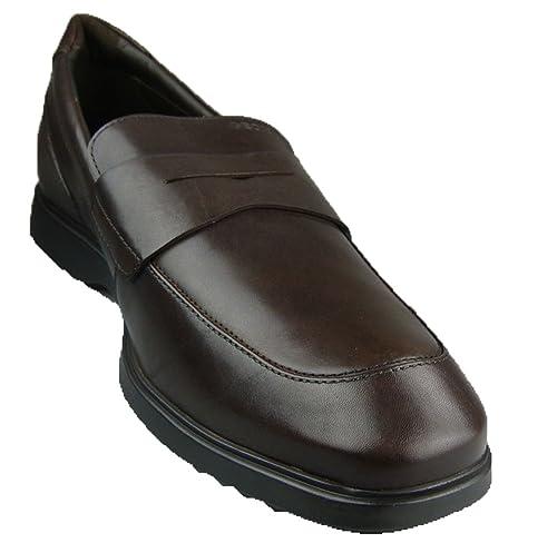 Geox Uomo Bond ST - Mocasines de Piel para hombre Marrón marrón, color Marrón, talla 43: Amazon.es: Zapatos y complementos