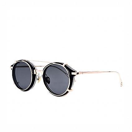 LMB Hombres Y Mujeres Gafas Vintage Redondas Steampunk Gafas ...