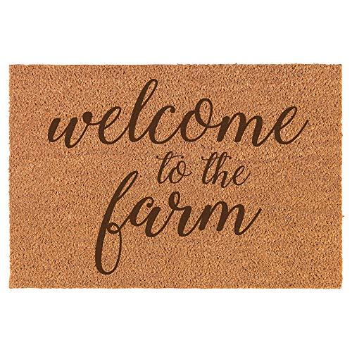 (Daylor Coir Door Mat Entry Doormat Welcome to The Farm)