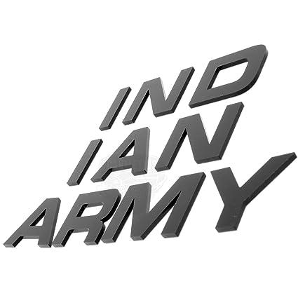 CarMetics Indian Army Logo Stickers Badge car Bonnet 3D Logo