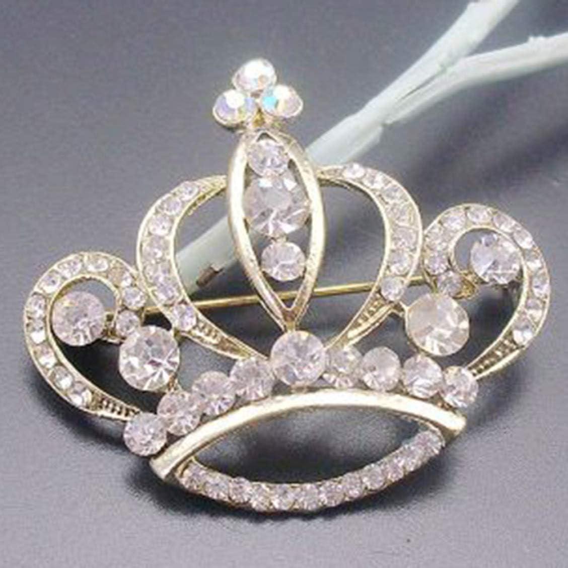 SYxiongsheng Le Rhin Le Diamant la Broche la Princesse la Couronne Le Mariage la Broche la Broche