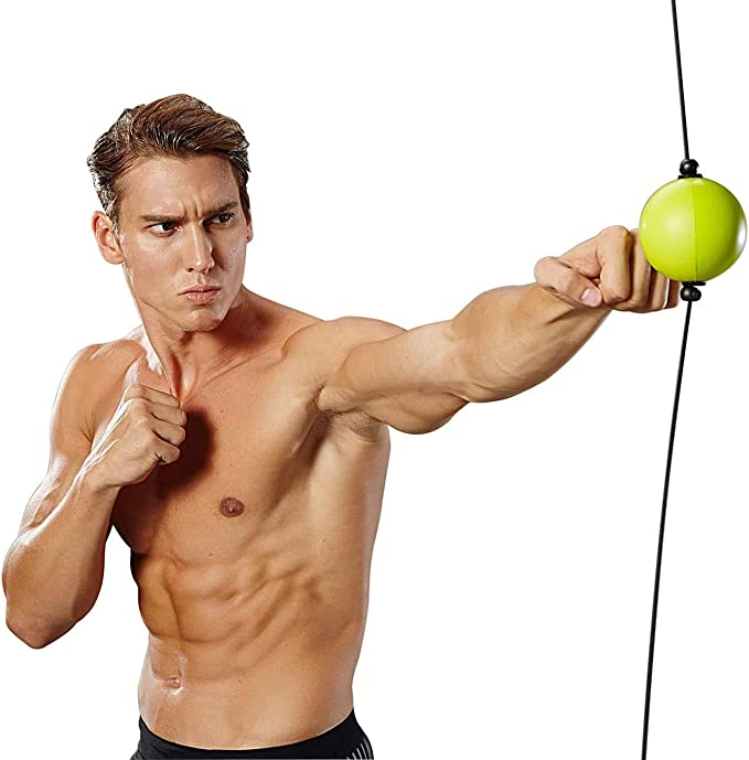 Bola de perforaci/ón Segura de Doble Extremo con ventosas de vac/ío Fuertes Feishibang Fight Ball Reflex Trainer para Entrenamiento de Velocidad de Boxeo de reacci/ón
