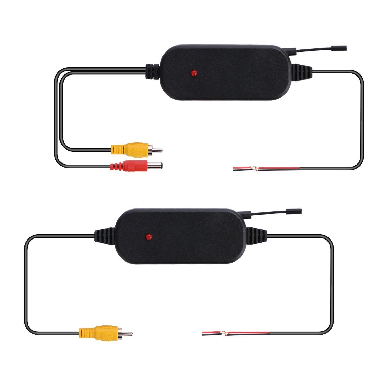 Cipotziz 2,4/G sans Fil /émetteur et r/écepteur pour arri/ère de Voiture Cam/éra de recul et moniteurs