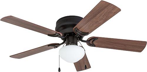 Prominence Home 50860 Alvina LED Globe Light Hugger/Low Profile Ceiling Fan