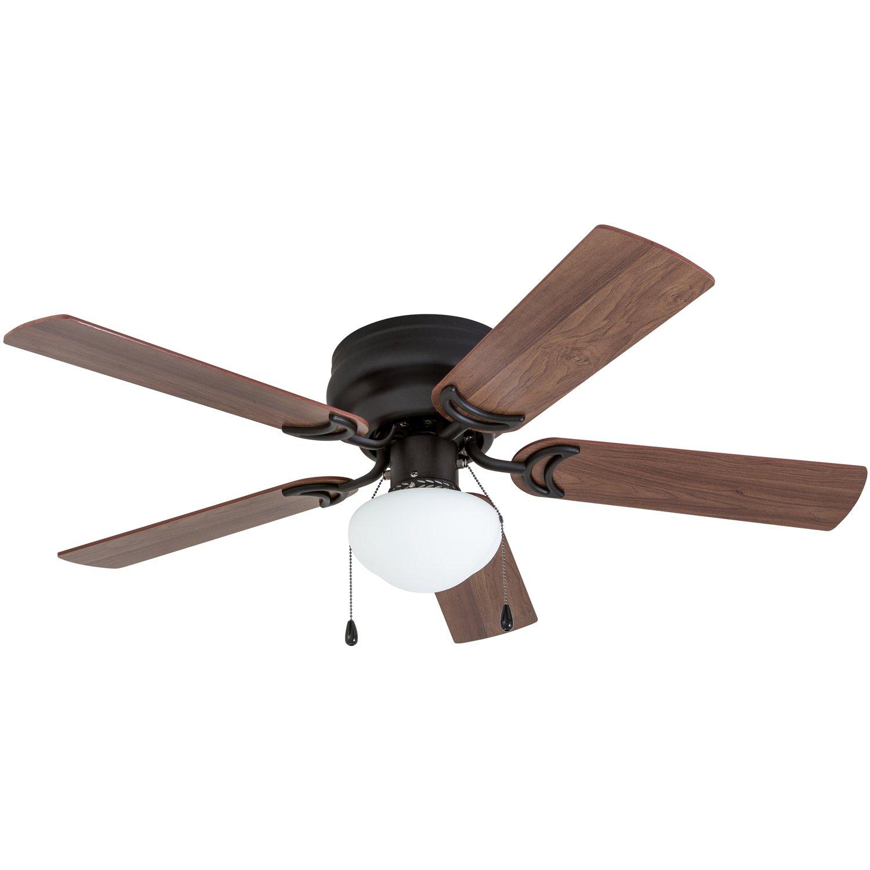Prominence Home 50860 Alvina LED Globe Light Hugger/Low Profile Ceiling Fan, 42 inches, Bronze