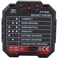 Socket Tester HT105D Eléctrico Socket Tester Cable RCD/GFCI