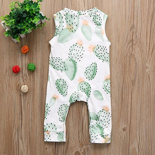 Goodlock Newborn Infant Fashion Romper Baby Girl Boy Sleeveless Floral Romper Jumpsuit Clothes Outfits
