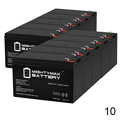 "Mighty Max Battery 12 Volt 7ah Rechargeable Battery with F1 (.187"") Terminals - 10 Pack Brand Product : Sports & Outdoors [5Bkhe0502012]"