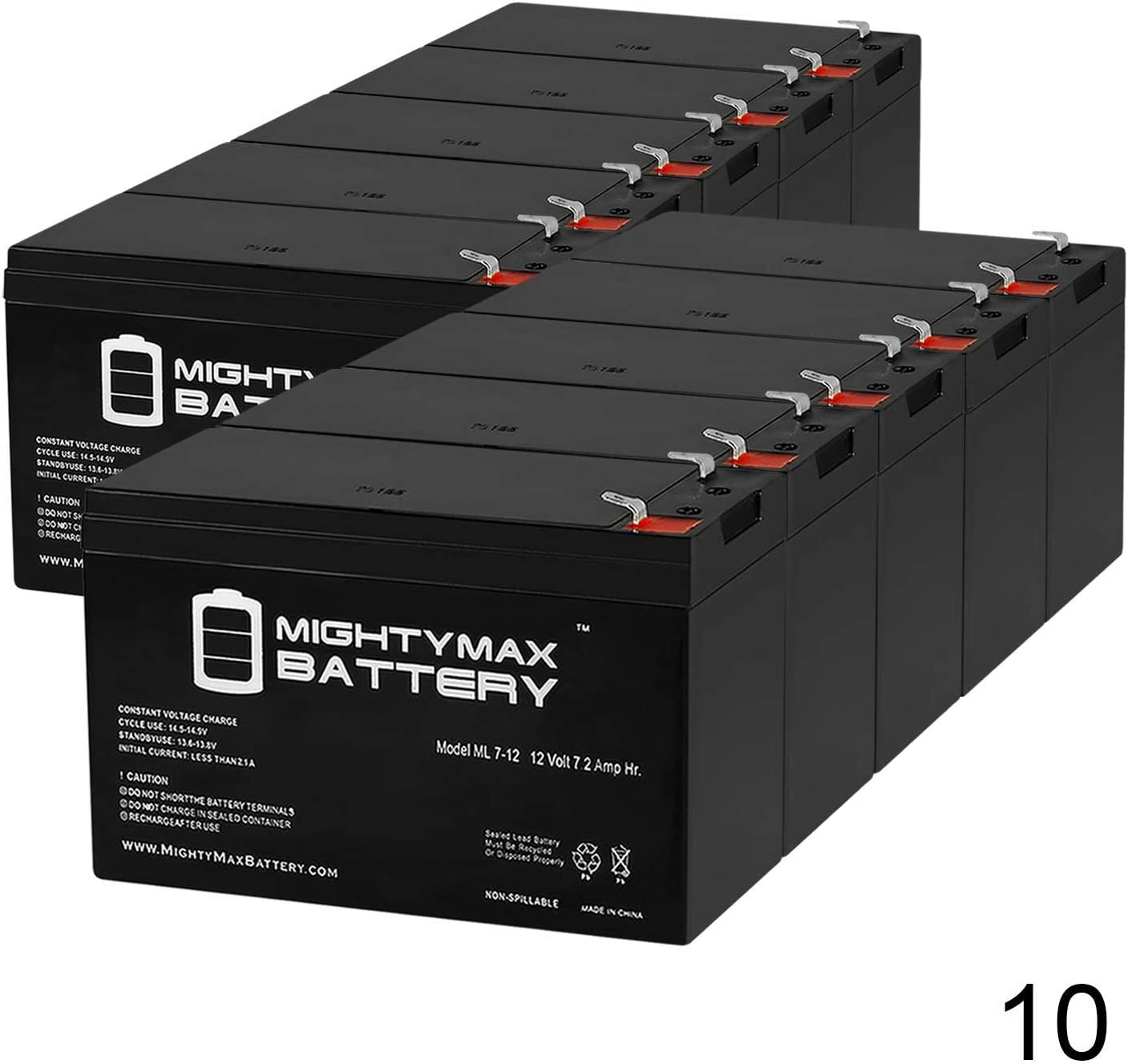 Mighty Max Battery 12V 7Ah UPS Battery for Best Technologies Patriot 600-10 Pack Brand Product