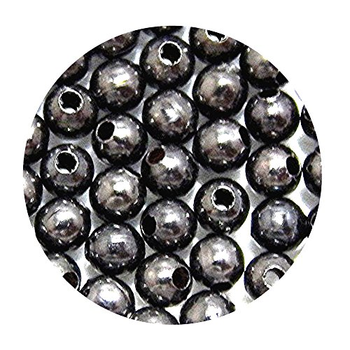 ROUND METAL SPACER BEADS 2.5mm SMOOTH or CORRUGATED SEAMLESS 200pc (Smooth (Corrugated Round Metal Beads)