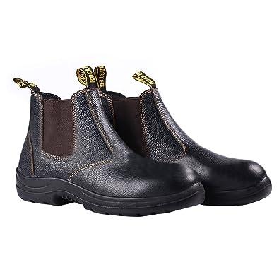 Rock Rooster Chaussures de Sécurité Bottes Mixte Adulte Cuir Bottes  Sécurité Homme cfc754 48a77c668018