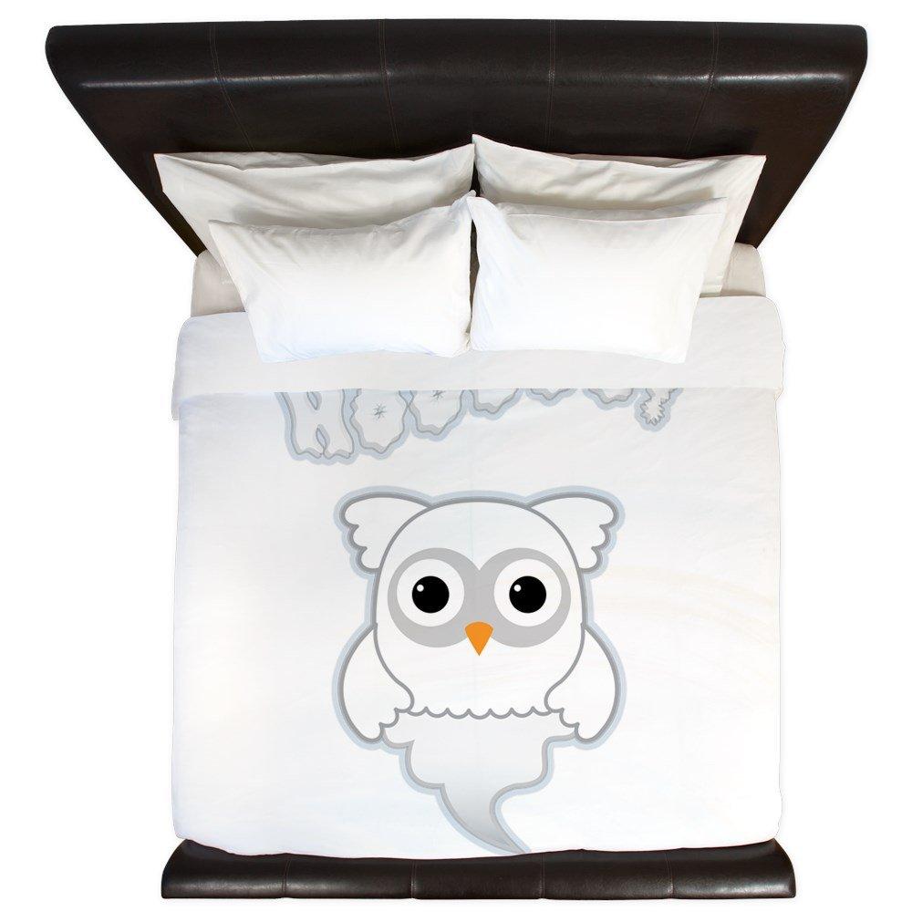 King Duvet Cover Spooky Little Ghost Owl