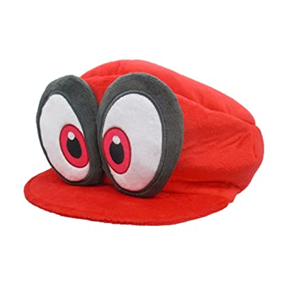a1aa680414d Image Unavailable. Image not available for. Color  Super Mario Odyssey Red  Cappy (Mario s Hat) Plush