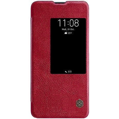 HERCN Funda Huawei Mate 20 X 7.2, Ultra Delgado Diseño Protección Case Carcasa de PU Cuero con Almacenamiento de Tarjetas Case Cover para Huawei Mate ...