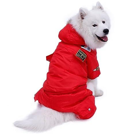 Diseño con capucha Perro Invierno Cálido Grueso Perro Ropa para Mascotas Chaqueta de Abrigo Cálido Sudadera