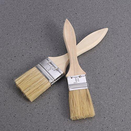 Rosenice 5/pcs Pinceaux avec manche en bois pour peinture murale et meubles