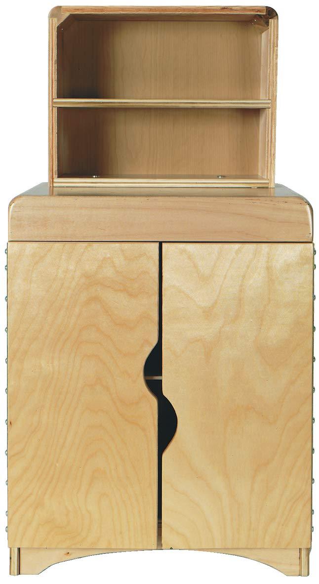 Korners for Kids 250140 Kitchen Hutch, Oak, 38'' x 14-1/4'' x 19'', Natural Wood Tone by Korners for Kids