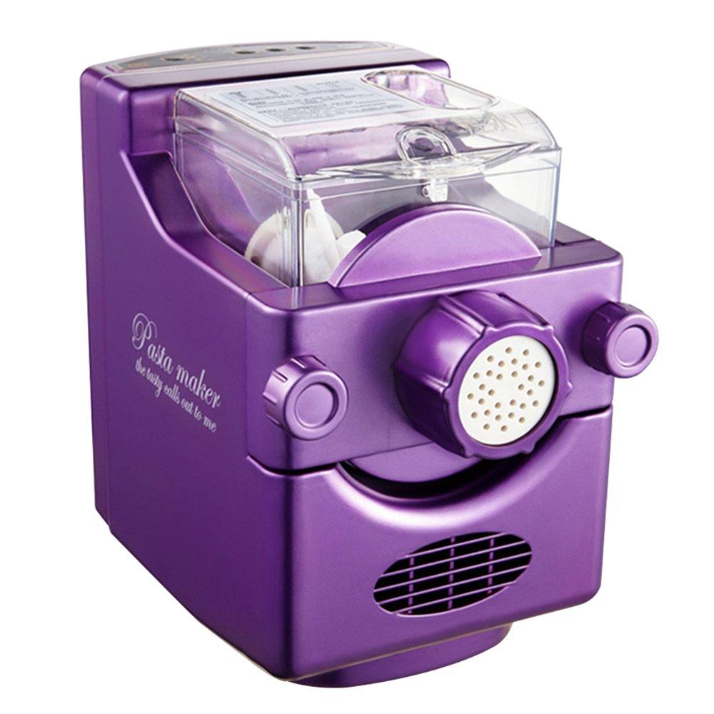 Vogvigo Noodle Maker Automatic Pasta Machine,Electric Multifunctional Small Dough Blender Pasta Processor (Purple)