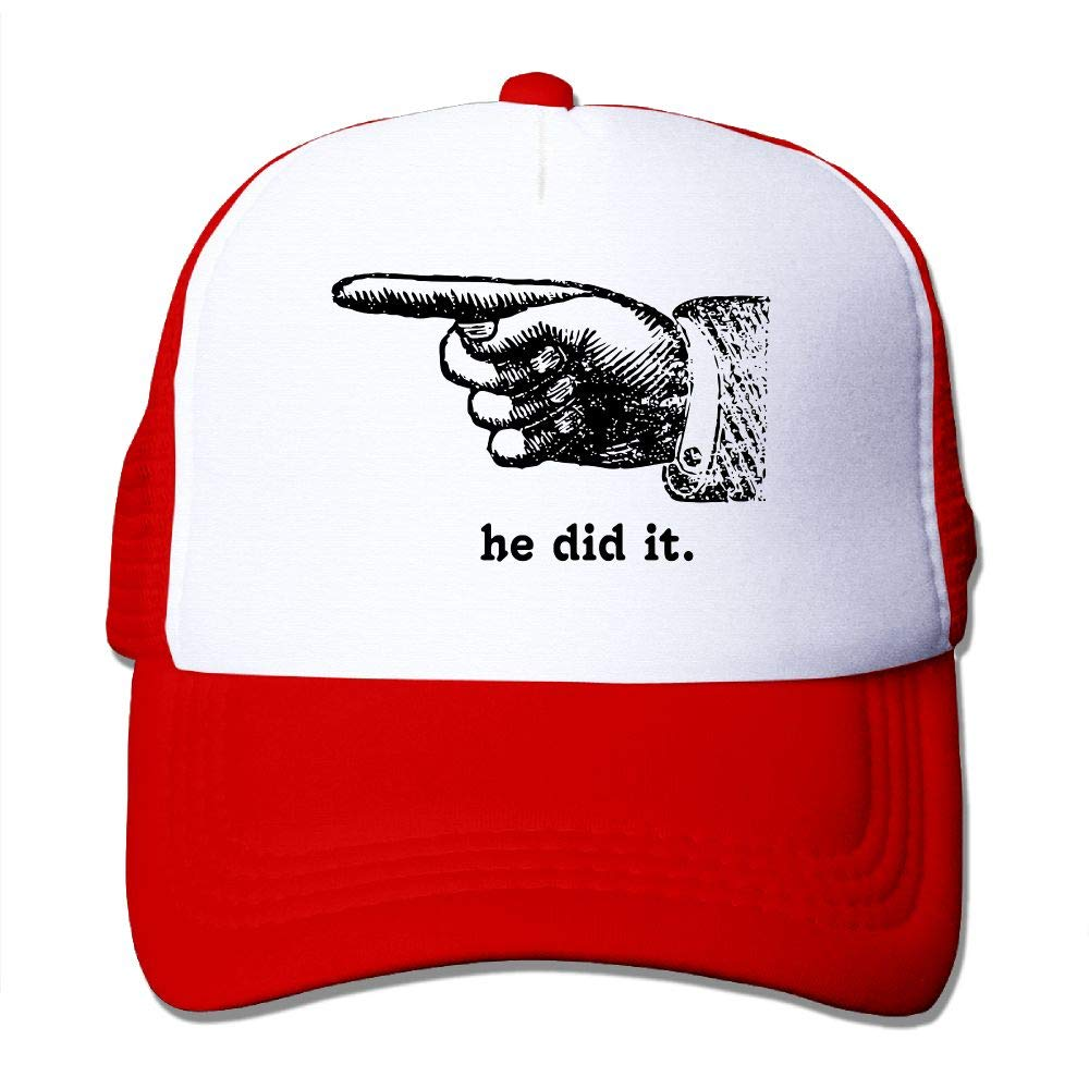 JimHappy He Did It Baseball Hat CapAdjustable Back Mesh Cap Men Women