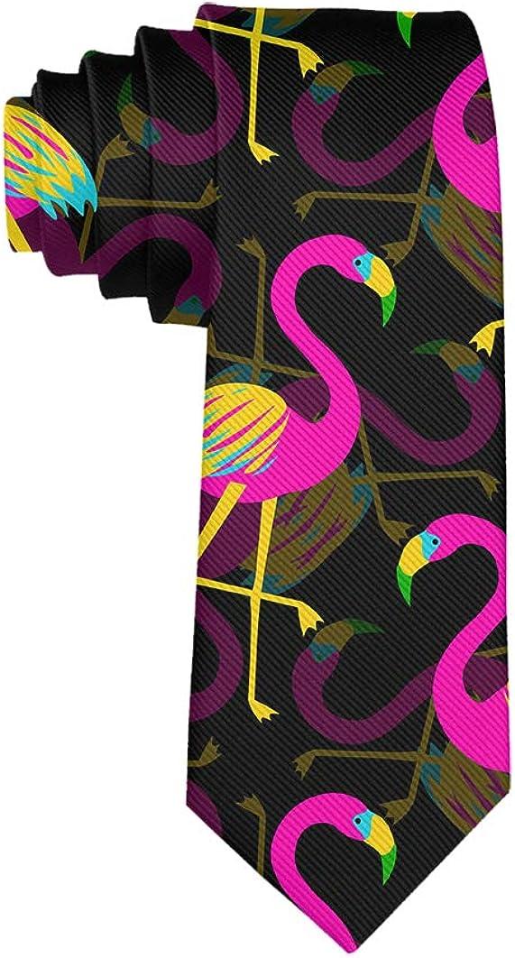 Business Meeting Wedding Suit Necktie Mens Casual Party Ties Colorful Flamingo Tie