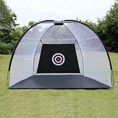 Hindom Golf Hitting Practice Net, Portable Pop-Up Golf Chipping Target Net for Backyard Indoor & Outdoor, with Carrying Bag