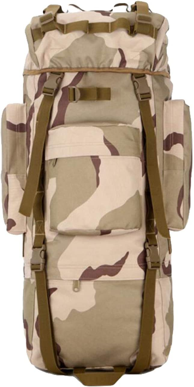 JSHFD Camouflage Hiking Outdoor Backpack Large Capacity Men and Women Outdoor Hiking Bag Equipment Bag 9 Colors