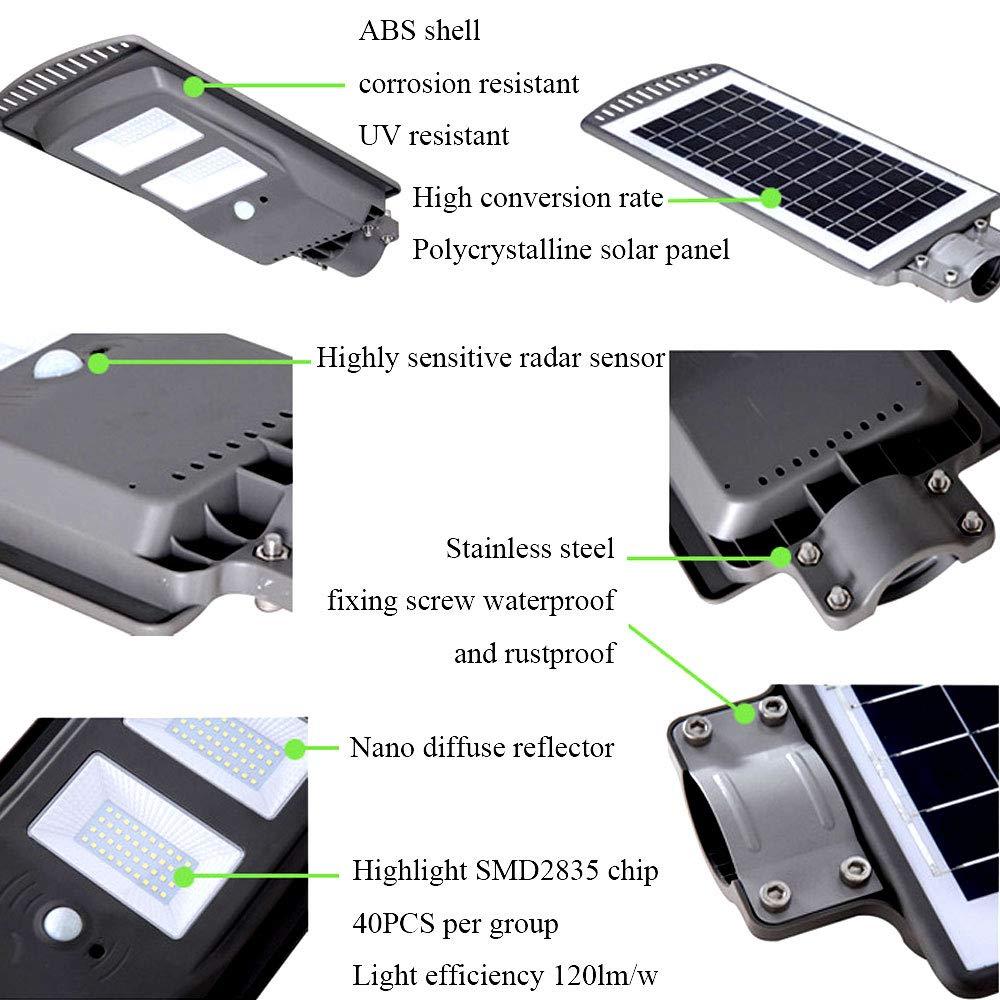 Luz De Seguridad Solar, 40 Luces De Seguridad Con Sensor De Movimiento Brillante LED, Luces Solares De Iluminación Gran Angular, Cabezal De Sensor Mejorado, ...