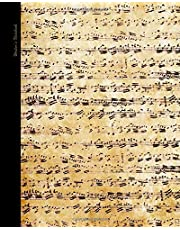 Writers Notebook: Gifts for Music Lovers (A large paperback personal journal with ruled lines NOT STAVES for musicians; it is from our Antique Parchment range)