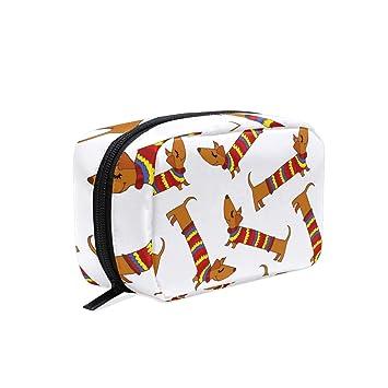 bb1e9d74207c Amazon.com : Fashion Square Cosmetic Bag Dachshund Dog Tag Art ...