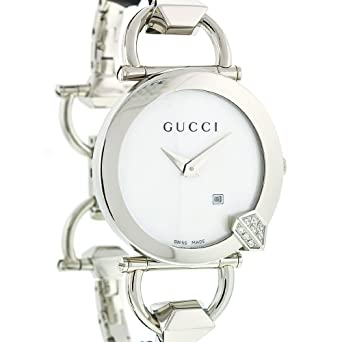 8248b43d6ee Gucci Ladies Chiodo Bracelet Watch YA122505  Amazon.co.uk  Watches