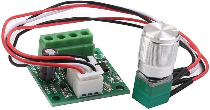 Rosenice Pwm Dc Motor Drehzahlsteller 1 8v 3v 5v 6v 12v 2a Einstellbar Elektronik