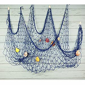 61FOO04TBnL._SS300_ Nautical Fish Net Decor