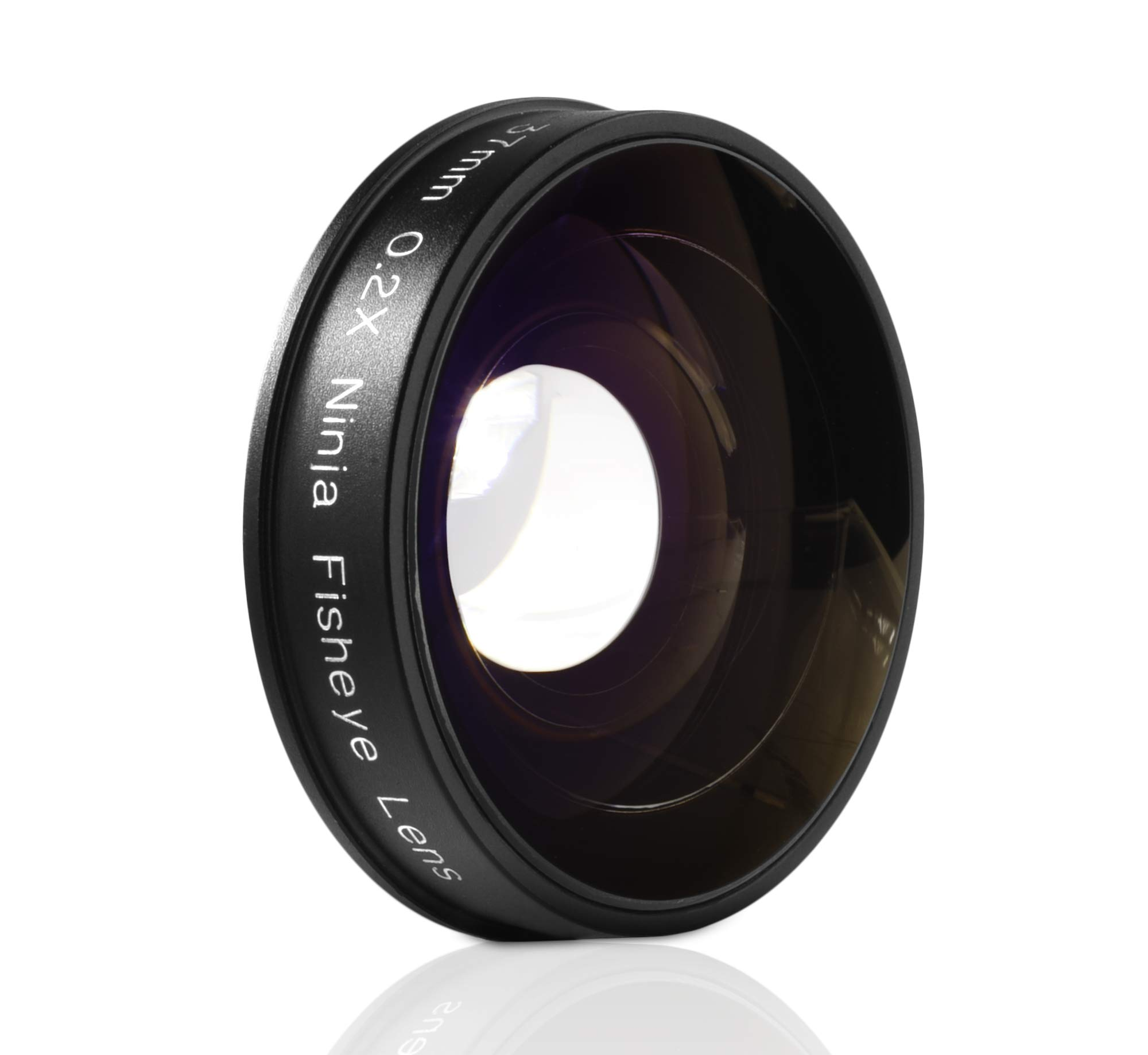 Opteka Platinum Series 0.2X Low-Profile HD Ultra Wide Fisheye Lens for Canon, Sony, JVC Video Cameras with 37mm Threads by Opteka