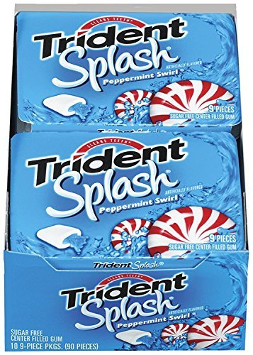 (Trident Splash Sugar Free Gum (Peppermint Swirl, 9-Piece, 20-Pack) by Trident)